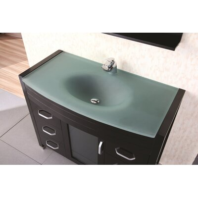 "Design Element Waterfall Cascade 47.25"" Single Sink Vanity Set"