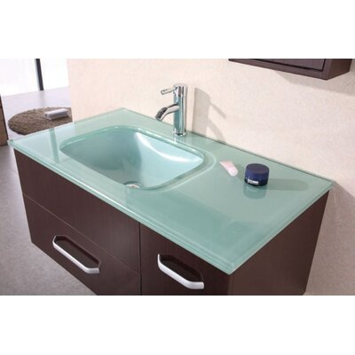 "Design Element Picks Christine 35"" Single Modern Vanity Set"