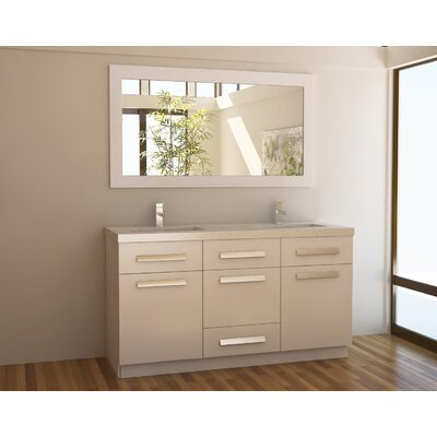 "Design Element Moscony 60"" Double Sink Vanity Set"