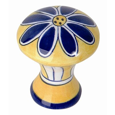 "Atlas Homewares Ceramic Daisy 2"" Round Knob"