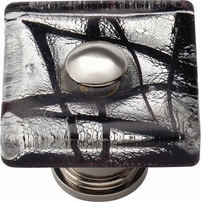 "Atlas Homewares Glass Eclipse 1.5"" Square Knob"