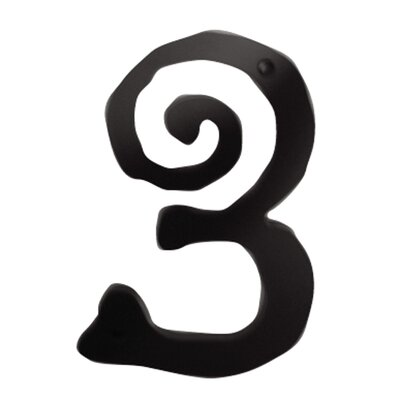 "Atlas Homewares 5.5"" Large Scroll House Numbers"
