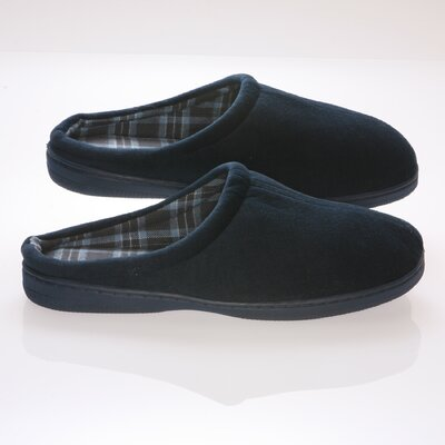 Deluxe Comfort Vamp with Checked Cotton Fabric Lining Male Slippers