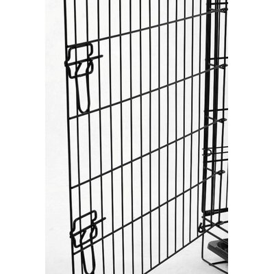 Double doors double door dog crate with divider for Double door with dog door