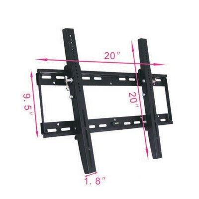 Aosom LLC Universal Flat TV Wall Mount Bracket with Tilt