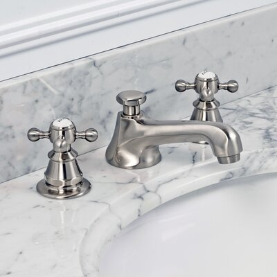 Water Creation London Widespread Bathroom Faucet with Double Cross Handles