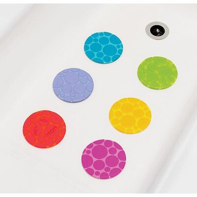 6 Pack Textured Grippy Dots Bathtub Toy