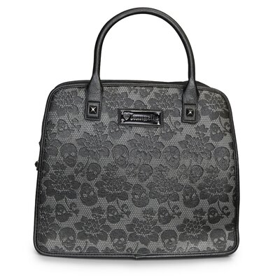 Skull Lace Embossed Satchel