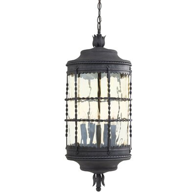 Great Outdoors by Minka Mallorca 5 Light Indoor/Outdoor Chain Hanging Lantern