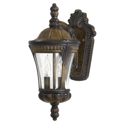 Great Outdoors by Minka Kent Place  Outdoor Wall Lantern in Prussian Gold