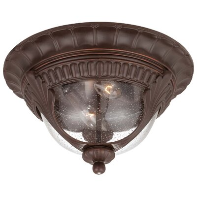 Great Outdoors by Minka Kent Place 2 Light Outdoor Flush Mount