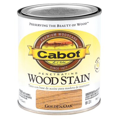 CabotStain 1 Quart Golden Oak Interior Oil Wood Stain 144-8121 QT