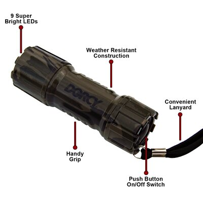 Dorcy Weather Resistant LED Camouflage Flashlight