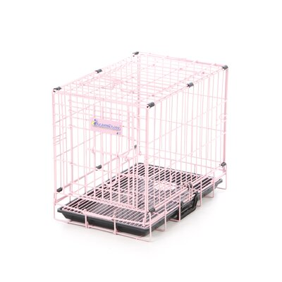 DreamCrate Professional Dog Crate in Pink