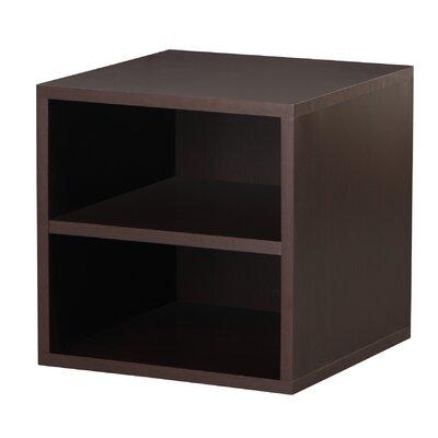 Foremost Modular Storage Cube with Shelf in Espresso