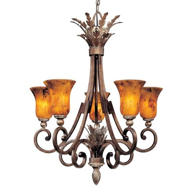 Metropolitan by Minka Gran Canaria 5 Light Chandelier
