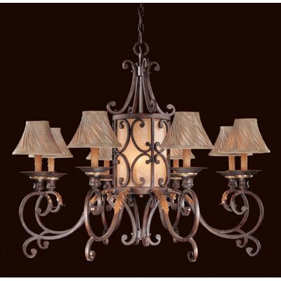 Zaragoza Eleven Light Chandelier in Golden Bronze with Optional Shades