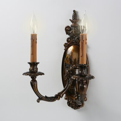Metropolitan by Minka Vintage 2 Light Candle Wall Sconce