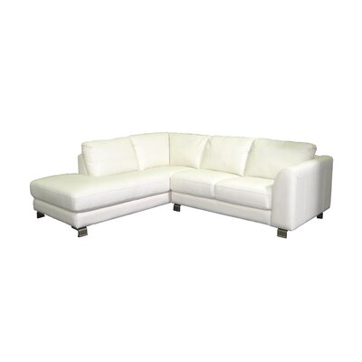 Paloma Top Leather L-Shaped Sectional