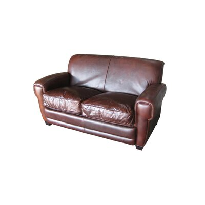 Hokku Designs Havana Leather Loveseat