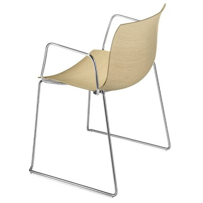 Arper Catifa 53 Wooden Armchair with Sled Base