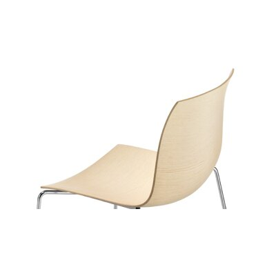 Arper Catifa 46 Wooden Armchair with Sled Base