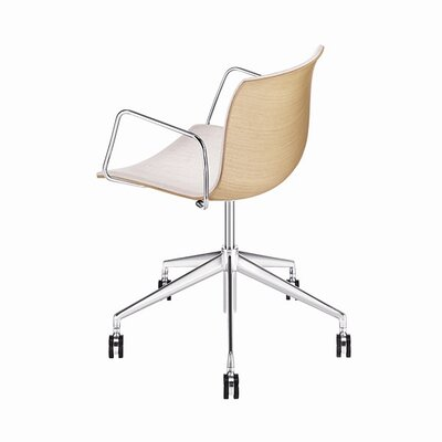 Arper Catifa 53 Wooden 5-Way Task Armchair with Gas Lift on Castors