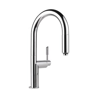 Graff Oscar Single Handle Single Hole Kitchen Faucet with Pull Down Spray