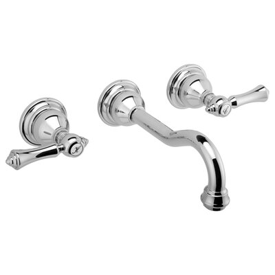 Canterbury Wall Mounted Bathroom Faucet with Double Lever Handles - G-2530-LM15