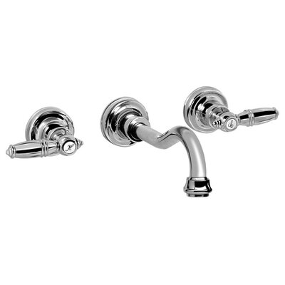 Pesaro Wall Mounted Bathroom Faucet with Double Lever Handles - G-1531-LM10