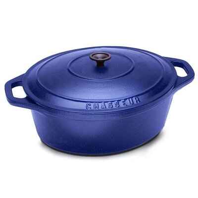 Paderno World Cuisine Cast Iron 3 1/2-Qt. Oval Dutch Oven