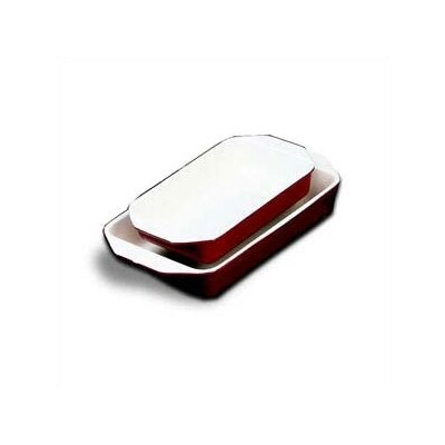 Paderno World Cuisine 13.625' x 8.125' Enamel Cast Iron Rectangular Dish