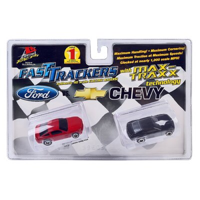 Fast Tracker Slot Cars, Twin Pack: Ford and Chevy, 2010 Mustang and Camaro