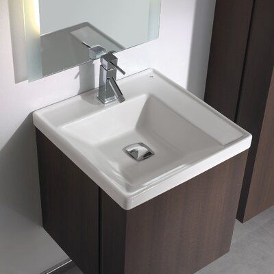 "Bissonnet Universal Minimal 19.7"" Bathroom Vanity Set in Espresso Brown"