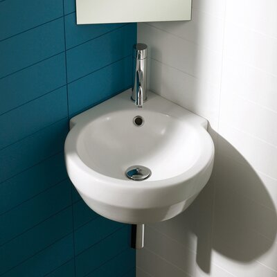 Bissonnet Corner Bowl Sink with Push-touch Drain