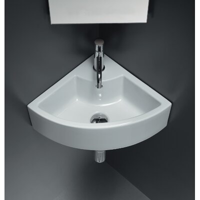 Bissonnet Area Boutique Ice Corner Ceramic Bathroom Sink