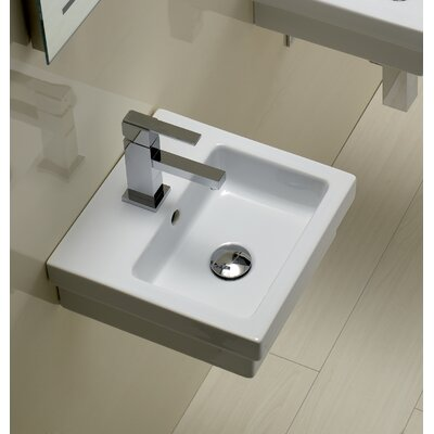 Bissonnet Area Boutique Logic 35 Ceramic Bathroom Sink