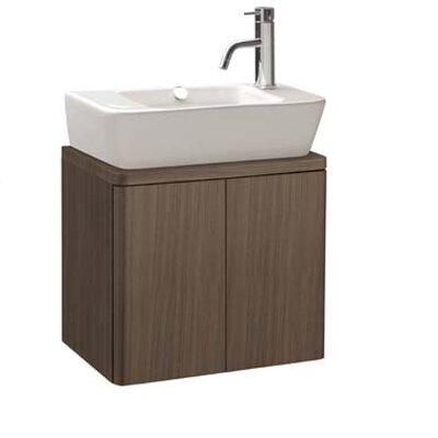 Bissonnet Universal Emma 19.5&quot; Bathroom Wall Hung Vanity Set in Anthracite