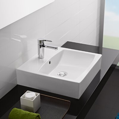 Universal Sweet Porcelain Bathroom Sink with Overflow - 03050