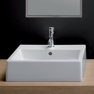 Area Boutique Ice Large Square Ceramic Bathroom Sink - 20160