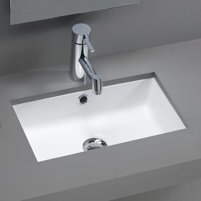 Bissonnet Traffic Agres Ceramic Mini Bathroom Sink