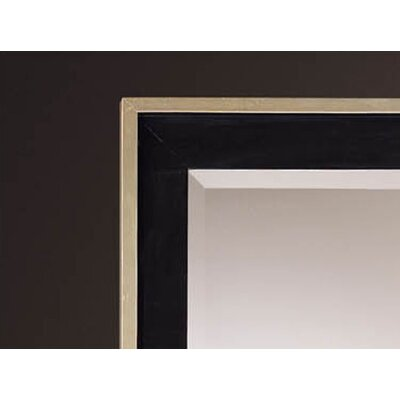 "Minka Ambience 79"" Rectangular Mirror in Silver and Black"