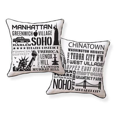 Naked Decor NYC Neighborhoods Pillow