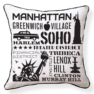 Naked Decor NYC Neighborhoods Pillow