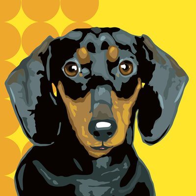 Naked Decor Pooch Décor Maxine, the Dachshund Portrait Graphic Art on Canvas