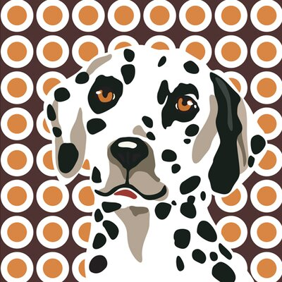 Naked Decor Pooch Décor Amazing Dalmation Portrait Graphic Art on Canvas