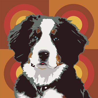 Naked Decor Pooch Décor Bernese Mountain Dog Portrait