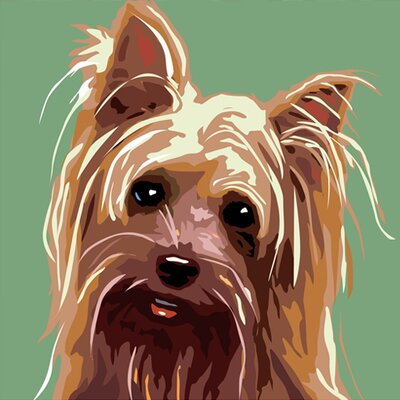 Naked Decor Pooch Décor Yorkshire Terrier Portrait Graphic Art on Canvas