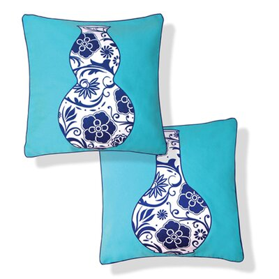 Naked Decor Blue Vases Reversible Pillow