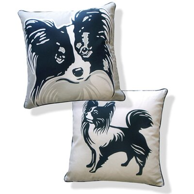 Naked Decor Papillon Double Sided Cotton Pillow